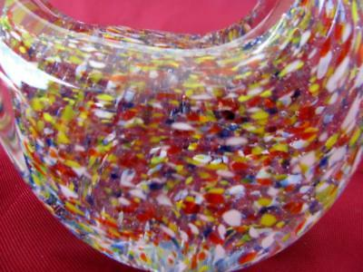 Vintage Italian Murano Color Crystal Glass Decorative Duck Figurine 5