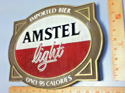 Amstel light beer sign imported holland breweries vintage old wall tacker Ml81 9