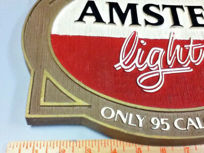 Amstel light beer sign imported holland breweries vintage old wall tacker Ml81 3