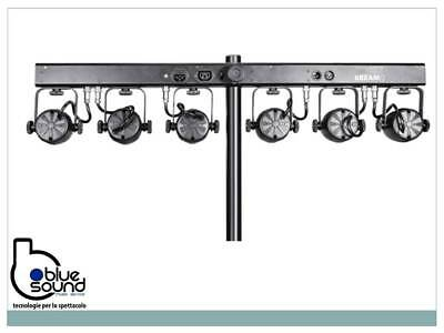 PROLIGHTS 6BEAMQ Kit composto di 6x12W LED RGBW cambiacolori, angolo 14,8°, IP30 4