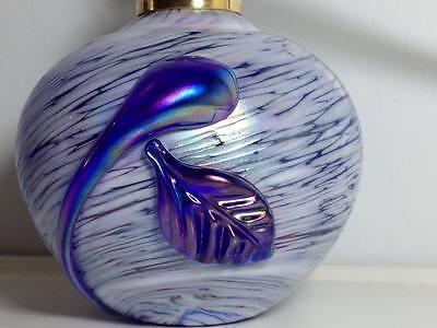 Cobalt blue iridescent art glass atomizer 4