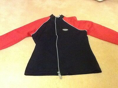 Girls Black and Red Zip top. Age 11/12 . Tesco 2