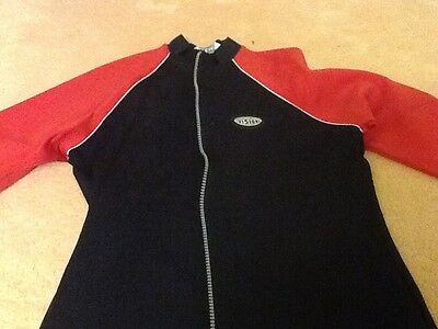 Girls Black and Red Zip top. Age 11/12 . Tesco 3
