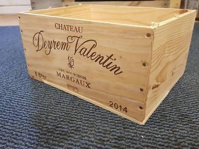 6 x GENUINE FRENCH WOODEN WINE CRATES BOXES  PLANTER HAMPER DRAWERS STORAGE..... 12