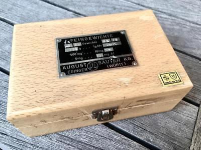 APOTHEKER - Schicker Gewichtesatz / Feingewichte im Holzkasten - Sauter 4