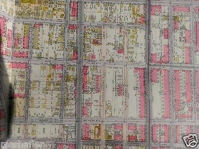 Cortelou Rd Atlas Map 1917 E Belcher Hyde Brooklyn Flatbush New York Church Av