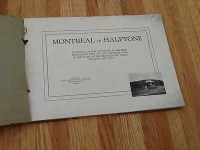 Early 20th century visitor guide book Montreal in Halftone 64 pages 2
