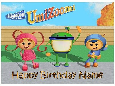 Team Umizoomi Edible Cake Topper Or Cupcakes Icing Sugar Sheet Party Decorations 2