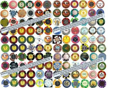 MEGA Set 131 PUERTO RICO CASINO New & Vintage POKER CHIP COLLECTION +Bonus Lot 6