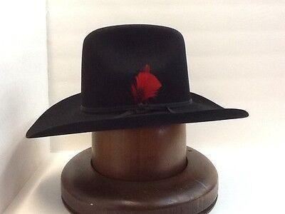 c8a436069 RESISTOL 6X BEAVER HAT BLACK QUARTER HORSE New W/tags+FREE hat brush+NO TAX  SELL