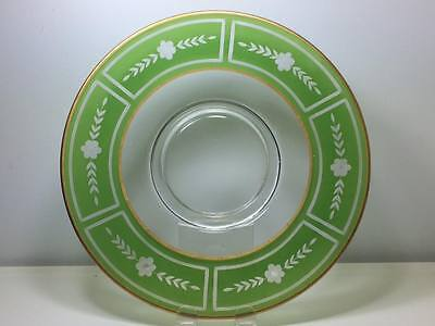 Westmoreland Glass etched cheese and cracker plate 2