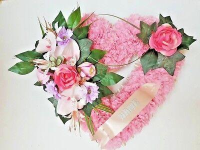 Pillow Shape Silk Artificial Funeral Flowers Wreath/Memorial/Grave/Tribute 20x12 5