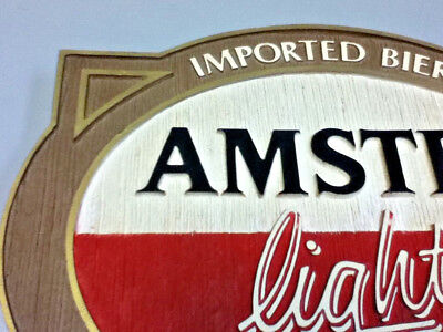 Amstel light beer sign imported holland breweries vintage old wall tacker Ml81 4