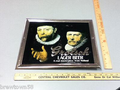 Grolsch Premium Lager beer sign vintage TOC tin tacker bar signs 1 import YM5 2