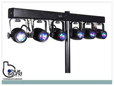 PROLIGHTS 6BEAMQ Kit composto di 6x12W LED RGBW cambiacolori, angolo 14,8°, IP30 2