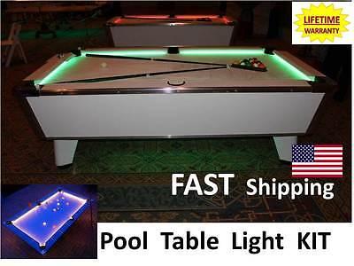 Led Pool Billiard Table Lighting Kit Light Your Jd Custom Cue Stick New
