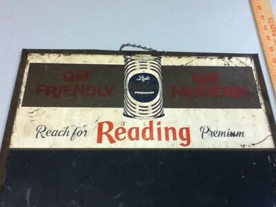 Reading Light beer sign bar chalkboard TOC vintage brewing tin tacker bar chalk 9