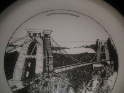 Vintage Royal Vale English Fine Bone China Clifton Suspension Bridge Plate
