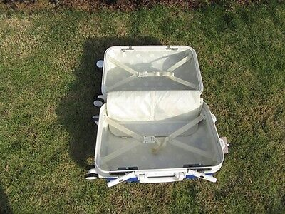 1X 24 Inch Dark Blue Universal Wheel Lock Travel Suitcase Luggage Bag 5