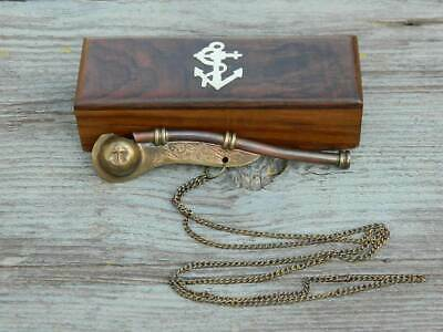 Nautical Brass & Copper Boatswain Whistle Madam Hooch Whistle Movie Harry Potter 2