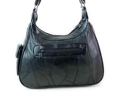 Real Leather Handbag Cross Body Long Shoulder Strap Women Black Travel Work 7