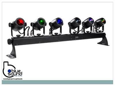 PROLIGHTS 6BEAMQ Kit composto di 6x12W LED RGBW cambiacolori, angolo 14,8°, IP30 3