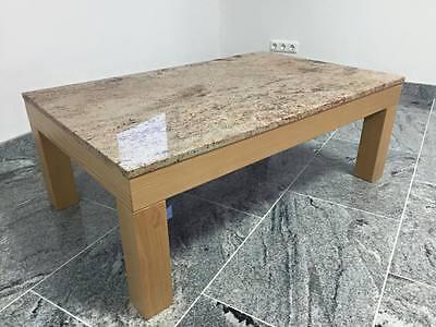 Dekorativer Holztisch Mit Steinplatte Couchtisch Beistelltisch Möbel