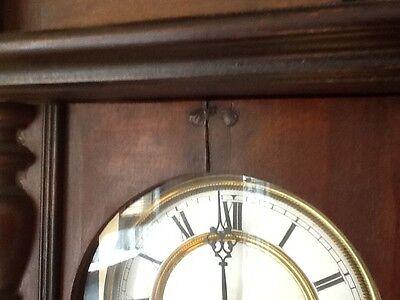 Antique German Pfeilkreuz Wall clock with R=A Pendulum c.1900 11