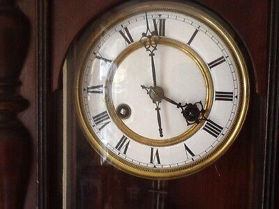 Antique German Pfeilkreuz Wall clock with R=A Pendulum c.1900 6