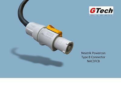 EVENT//STAGE Neutrik PowerCON to 16A Socket Adaptor 1m to 10m x 2.5mm H07RN