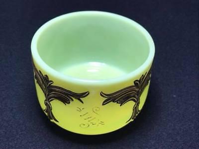 "Antique custard souvenir glass "" 1912 From Father"" 2"