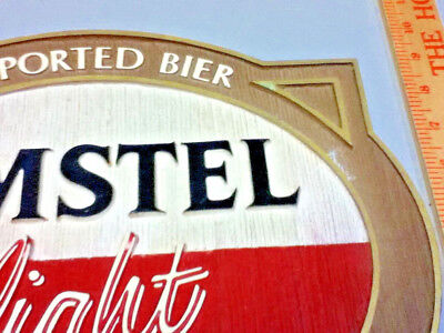 Amstel light beer sign imported holland breweries vintage old wall tacker Ml81 5