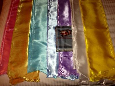 "7/""×57/""ready for dispatch1st class post all colors 5 Elvis ETA/'s satin scarves"