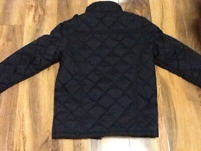 Black Quilted Girls School Jacket Aged 7-8 Years Old (122-128cm) 7