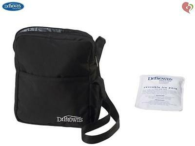 Dr Brown's Breast Milk Bottle Freezer Insulated Bottle Tote Bag Black #903