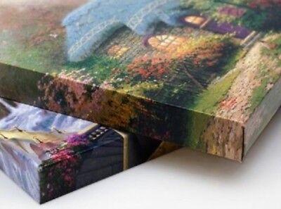 "Thomas Kinkade Wrap - Lights of Christmastown Set of 2 -14"" x 14"" Wrapped Canvas"