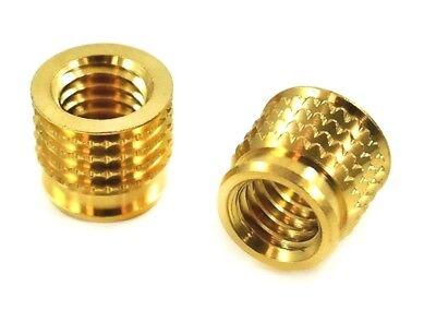 Pressfit Threaded Brass Inserts 1024 for Plastic 25pcs