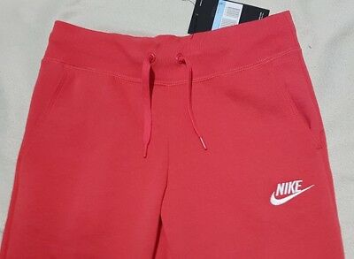 Nike Girl's Nsw Fleece Pants Tracksuit Bottoms Deep Coral 806326 645 -M / L / Xl 2