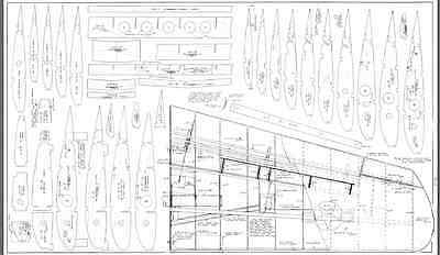 P-61 BLACK WIDOW enlarged to 1/5 Scale RC Model AIrplane Printed Plans