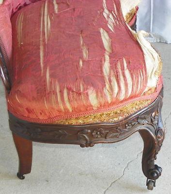 Antique Victorian Rosewood Recaimier / Méridienne – Pierced Carved J H Belter 6