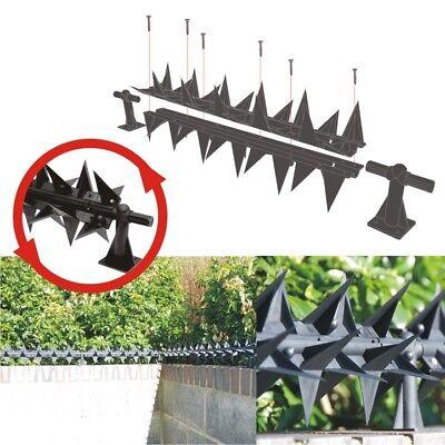 STEGASTRIP FENCE WALL Spikes 2 5 Meters rotating, 6 posts, anti climb BUNDLE