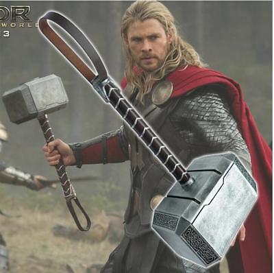 Fast Ship 1:1 Full Solid God of thunder Thor Hammer High Density Resin Cosplay 2