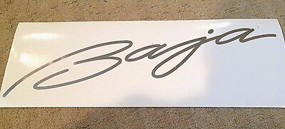 Baja Boats LARGE Chrome Decal Sticker Emblem Yacht Skipper - Baja boat decals easy removallarson boat raised decal lsrorange