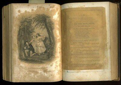 Antique Book 1851 KEEPSAKE of FRIENDSHIP 4 Oliver Pelton Engravings CHRISTMAS hb 8