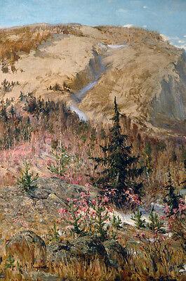 19th Century Oil Painting Nikolai Petrovich Bogdanov-Bel'sky (Russian) 3