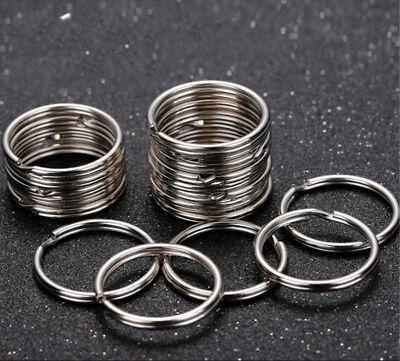 200PCS Key Rings Chains Split Ring Hoop Metal Loop Steel Accessories 25mm US 2