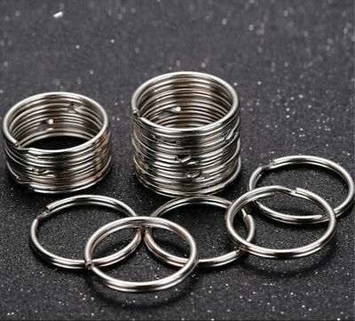 200Pcs Key Rings Chains Split Ring Hoop Metal Loop Steel Accessories 25mm LoT 3