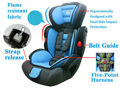 MCC® 3 in 1 Child Baby Car Seat Safety Booster For Group 1/2/3 9-36kg ECE R44/04 3