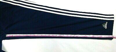 ADIDAS Men's Basketball Pants Small Navy Blue Button Snap Tear Away S 2