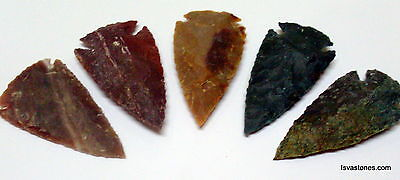 *** 35 pc lot flint arrowhead OH collection project spear points knife blade *** 7